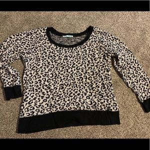 Leopard print sweater- Maurice's Large